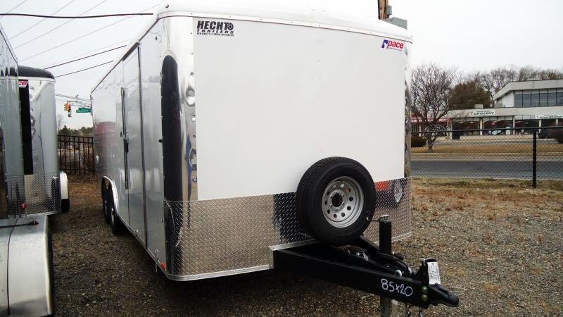 2021 Pace American 8.5X20 CLS TE3 18XA RAMP WHITE Car / Racing Trailer