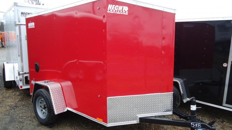 2020 Pace American 5X8 OBDLX SI2 24VS SVNT RED Enclosed Cargo Trailer