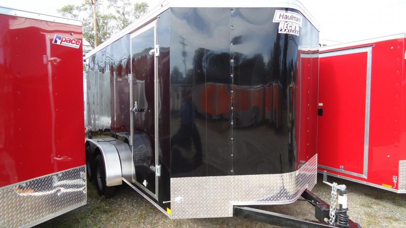 2020 Haulmark 7X14 PPT T2-D BLACK Enclosed Cargo Trailer