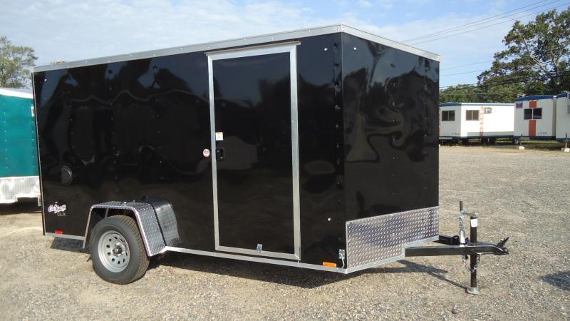 2021 Pace American 6X12 OBDLX SI2 24VS RAMP SVNT BLACK Enclosed Cargo Trailer