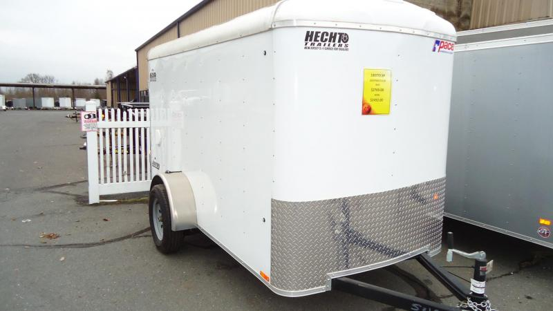 2019 Pace American 5x10 JT SI2 SVNTS WHITE Enclosed Cargo Trailer