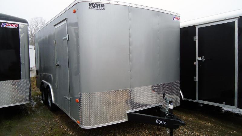 2020 Pace American 8.5X16 OB TE2 RMP EXT SD SVNT SILVER Car / Racing Trailer