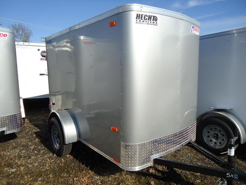 2021 Pace American 5X8 OB SI2 RAMP SILVER Enclosed Cargo Trailer