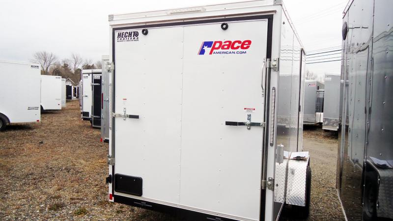 2021 Pace American 6X12 OBDLX SI2 24VS 6X STAB JCK RAMP SVNT WHITE Enclosed Cargo Trailer