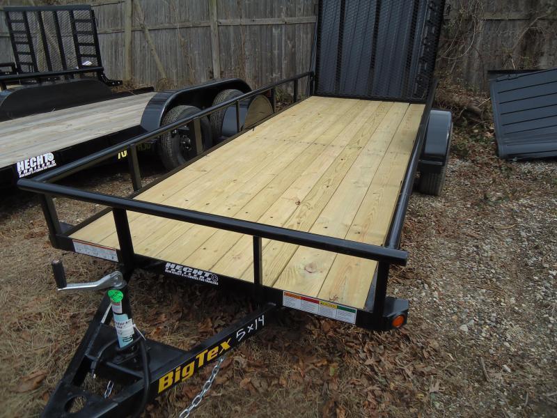 2020 Big Tex Trailers UT 5X12 30SA 12BK4RG BLACK Utility Trailer