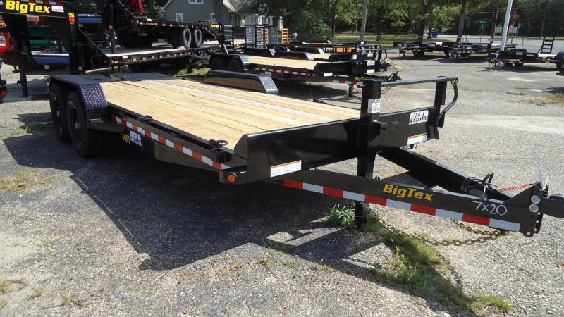 2020 Big Tex Trailers EH 7X16 14ET 16BK DT MEGA BLACK Equipment Trailer