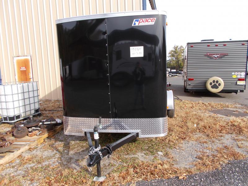 2020 Pace American 6X12 OB RAMP BLACK Enclosed Cargo Trailer