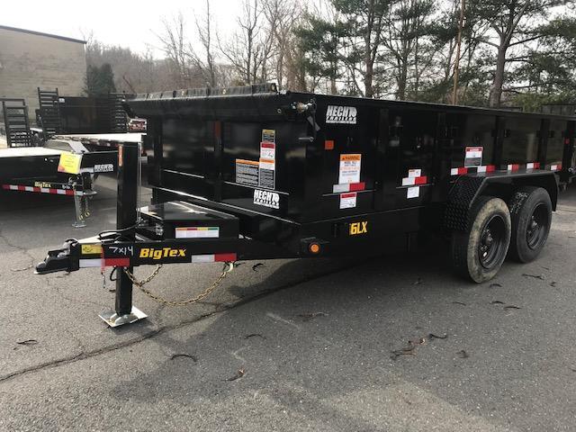 2019 Big Tex Trailers DT 7X14 16LX 14BK 7SIRPD HYJCK TARP BLACK Dump Trailer