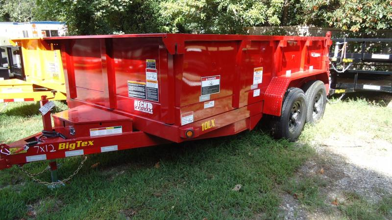 2020 Big Tex Trailers DT 7X12 10LX 12RD7SIR RED Dump Trailer