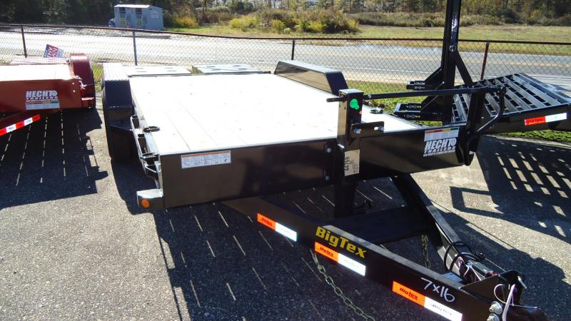2020 Big Tex Trailers EH 7X16 14ET 16BKMR MEGA BLACK Equipment Trailer