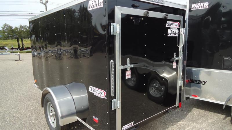 2020 Bravo Trailers 5X10 SC SA 18V RAMP APP BLACK Enclosed Cargo Trailer