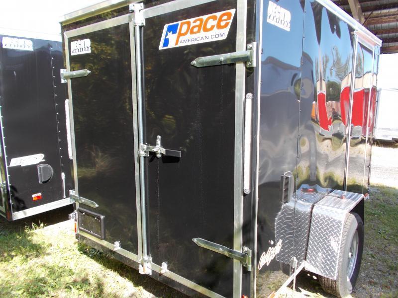 2020 Pace American 6X10 OBDLX SI2 24VS SVNT BLACK Enclosed Cargo Trailer