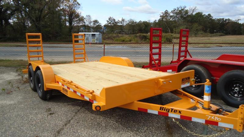 2020 Big Tex Trailers EH 7X16 10ET 16YEKR KNEE YELLOW Equipment Trailer