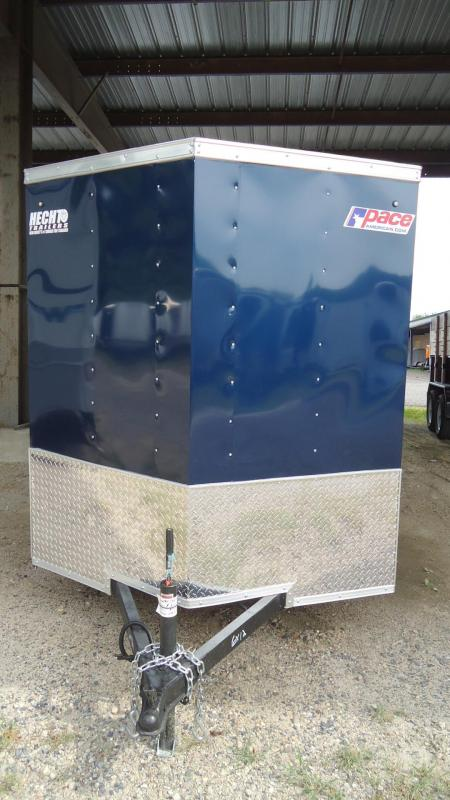 2020 Pace American 6X12 JV SI2 18W RAMP SVNTS BLUE & BLACK Enclosed Cargo Trailer