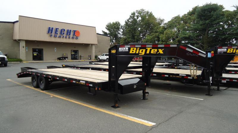 2020 Big Tex Trailers EH 8.5X25 14GN 20BK+5 5'FUR BLACK Equipment Trailer