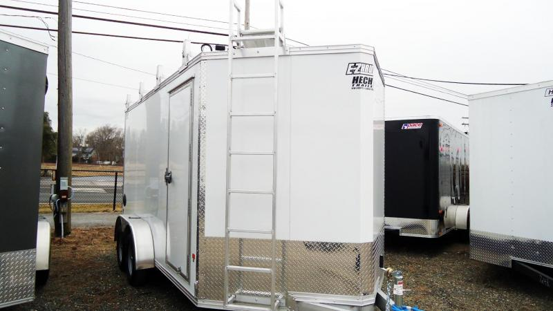 2020 E-Z Hauler 7X14 EZEC UCP V SD WHITE Enclosed Cargo Trailer