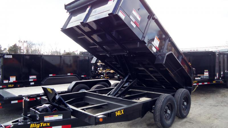2020 Big Tex Trailers DT 7X12 14LX 12BK 7SIRPD TARP BLACK Dump Trailer