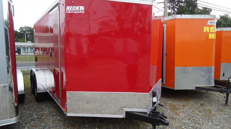 2020 Pace American 7X14 OBDLX TE2 30VS RAMP SVNT RED Enclosed Cargo Trailer