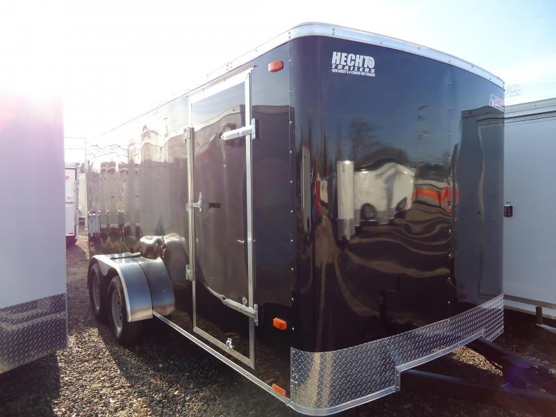 2021 Pace American 7X16 OB TE2 RAMP BLACK Enclosed Cargo Trailer