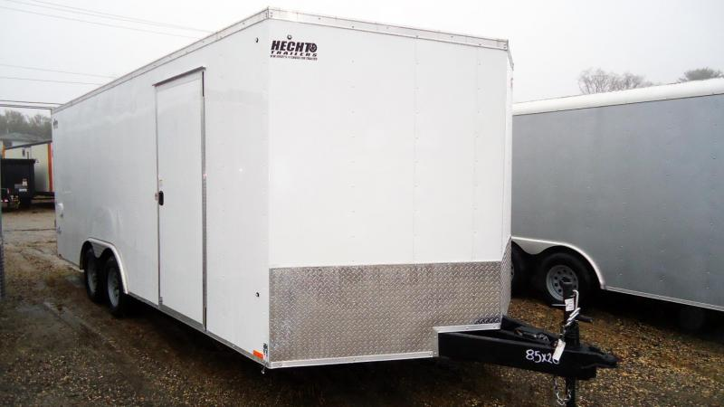 """2020 Pace American 8.5X20 OBDLX TE2 18"""" TUNG RTMP EXT SD SVNT WHITE Car / Racing Trailer"""