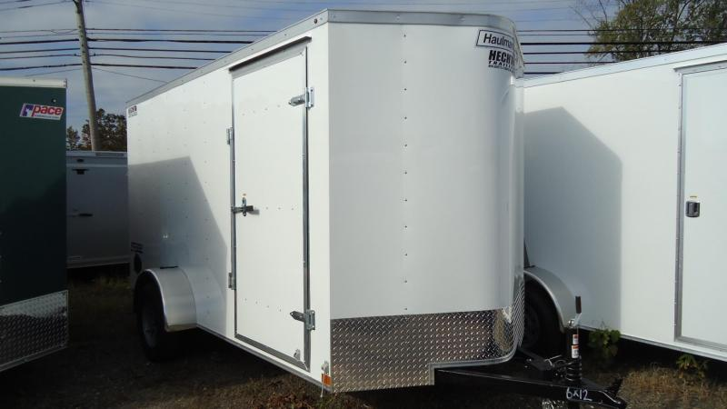 2020 Haulmark 6X12 PPT S2-D EB RAMP WHITE Enclosed Cargo Trailer