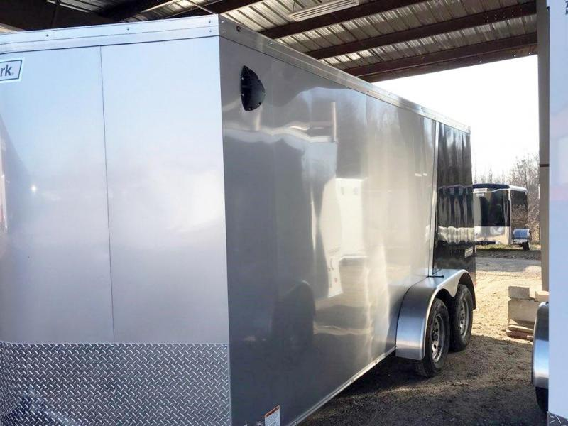 2020 Haulmark 7X16 TSV T2 RAMP SILVER & BLACK Enclosed Cargo Trailer