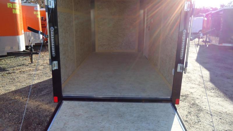 2020 Bravo Trailers 6X12 SC SA RAMP APP SILVER & BLACK Enclosed Cargo Trailer