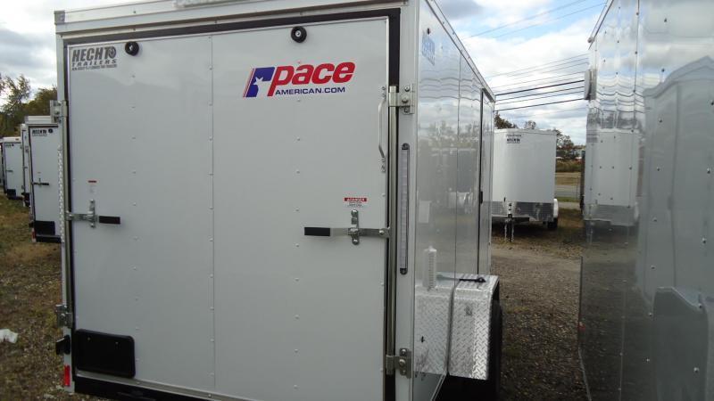 2020 Pace American 6X12 OBDLX SI2 24VS RAMP SVNT WHITE Enclosed Cargo Trailer
