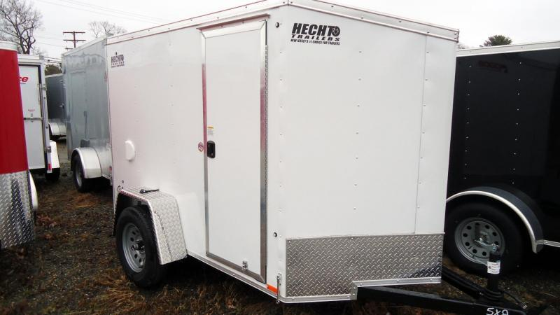 2021 Pace American 5X8 OBDLX 24VS RAMP SD SVNT WHITE Enclosed Cargo Trailer