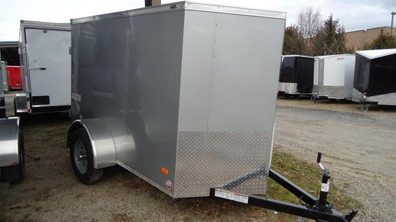2020 Bravo Trailers 5X8 SC SA 18V APP SILVER Enclosed Cargo Trailer