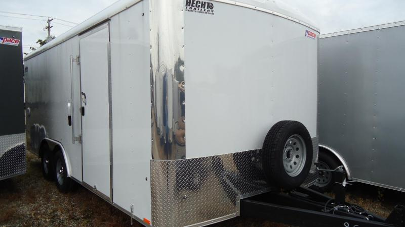 "2020 Pace American 8.5X18 CLS TE2 18""XA RAMP SVNT WHITE Enclosed Cargo Trailer"
