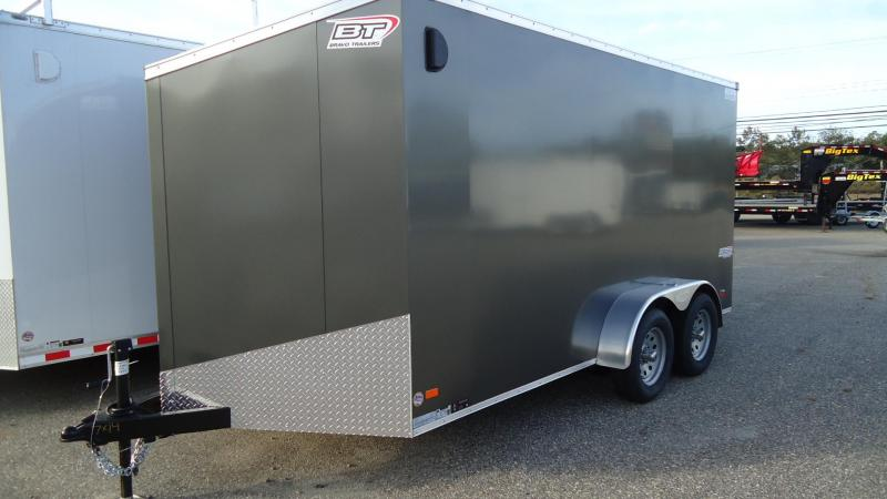 2020 Bravo Trailers 7X14 SC TA2 6X 30V SC+ APP CHARCOAL Enclosed Cargo Trailer