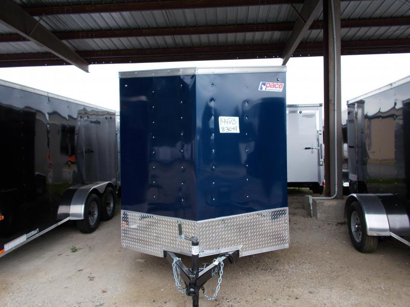 2020 Pace American 6X10 OBDLX SI2 24VS SVNT BLUE Enclosed Cargo Trailer