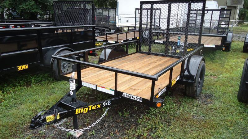2020 Big Tex Trailers UT 5X8 30SA 08BK4RG BLACK Utility Trailer