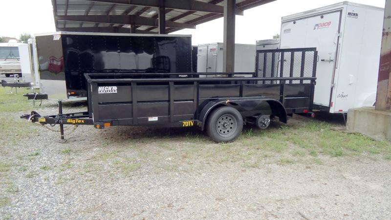 2020 Big Tex Trailers UT 7X14 70TV 14BK 4RG BLACK Utility Trailer