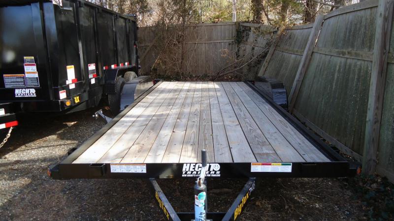 2020 Big Tex Trailers CH 7X18 60EC 18BK 4SIR 2EB BLACK Car / Racing Trailer