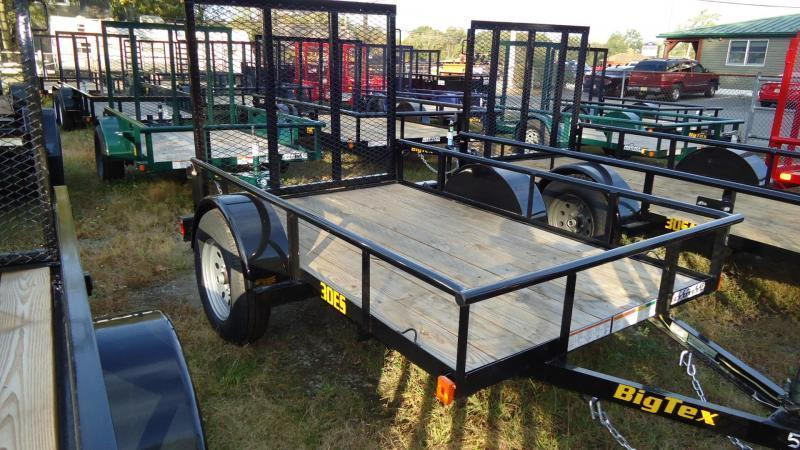 2020 Big Tex Trailers UT 5X8 30ES 08BK 4RG BLACK Utility Trailer