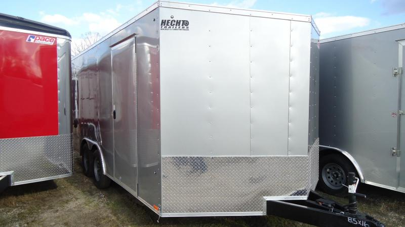 "2020 Pace American 8.5X16 OBDLX TE2 30VS 18""TNG RAMP SVNT SILVER Enclosed Cargo Trailer"