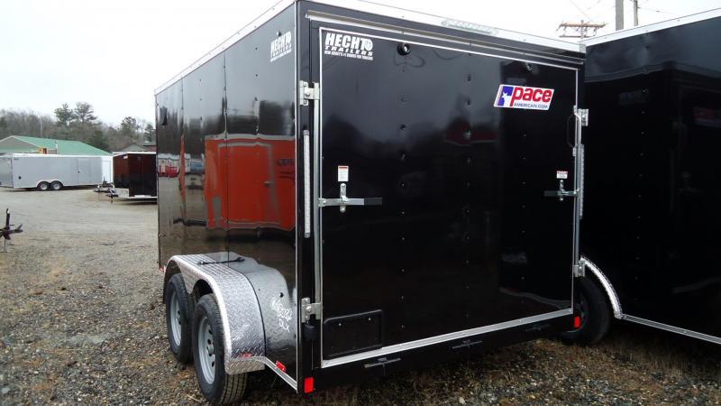 2020 Pace American 7X12 OBDLX TE2 30VS RAMP BLACK Enclosed Cargo Trailer