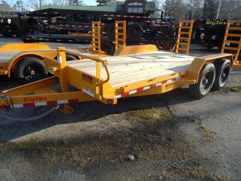 2020 Big Tex Trailers EH 7X18 14ET 18YE KR KNEE DT YELLOW Equipment Trailer