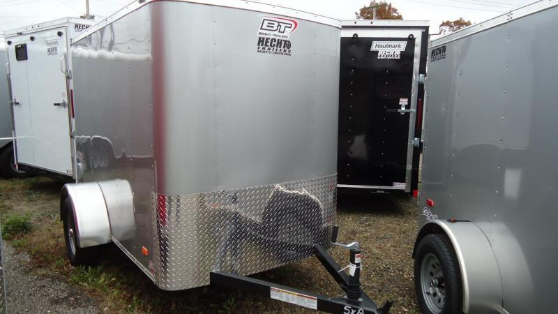 2020 Bravo Trailers 5X8 SC SA 6X RAMP APP SILVER Enclosed Cargo Trailer