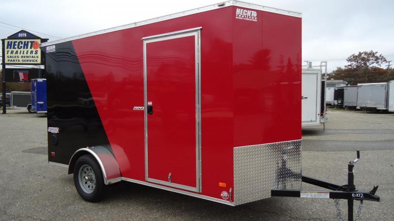 2020 Pace American 6X12 SC SA 6X 18V RAMP SC RED BLACK Enclosed Cargo Trailer