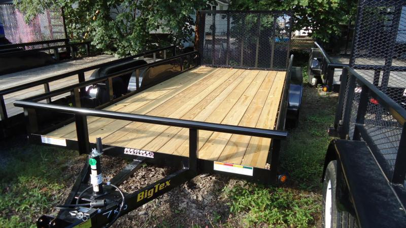 2020 Big Tex Trailers UT 7X14 70PI 14XBK4RG BLACK Utility Trailer
