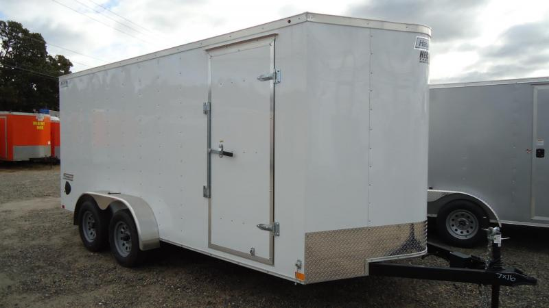 2020 Haulmark 7X16 PP T2 RAMP WHITE Equipment Trailer