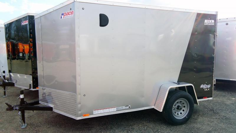 2020 Pace American 6X10 OBDLX SI2 24VS RAMP SILVER & BLACK Enclosed Cargo Trailer