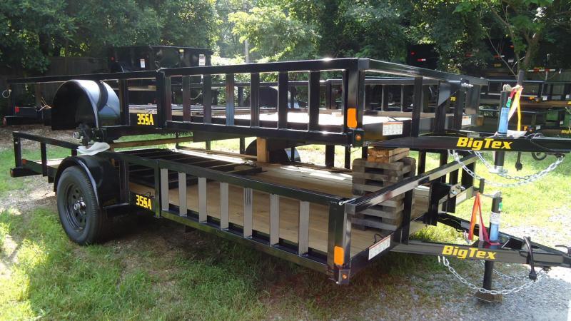 2019 Big Tex Trailers UT 7X14 35SA 14BK 4RG SX BLACK ATV Trailer