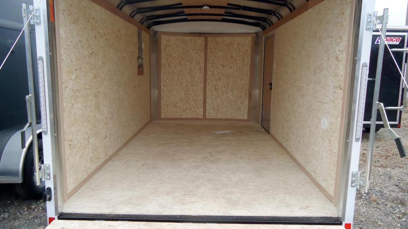 2021 Pace American 7X12 JT TE2 12XT RAMP SVNT WHITE Enclosed Cargo Trailer