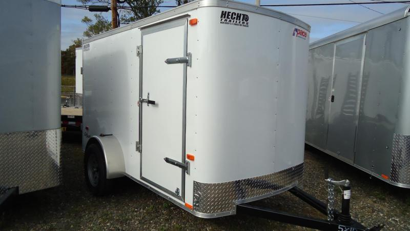 2020 Pace American 5X10 OB SI2 WHITE Enclosed Cargo Trailer