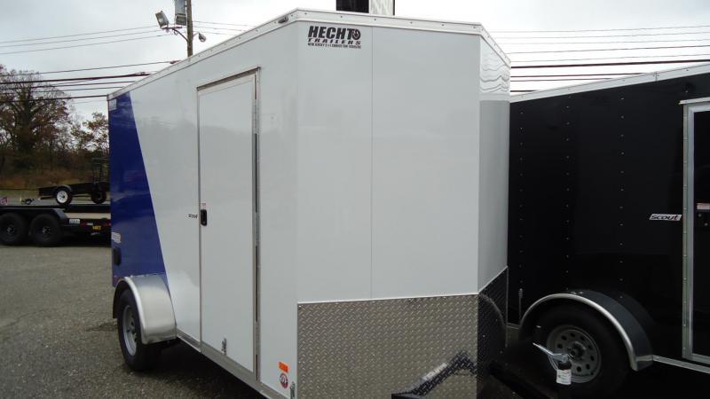 2020 Pace American 6X12 SC SA 6X 18V RAMP SC WHITE DEEP BLUE Enclosed Cargo Trailer