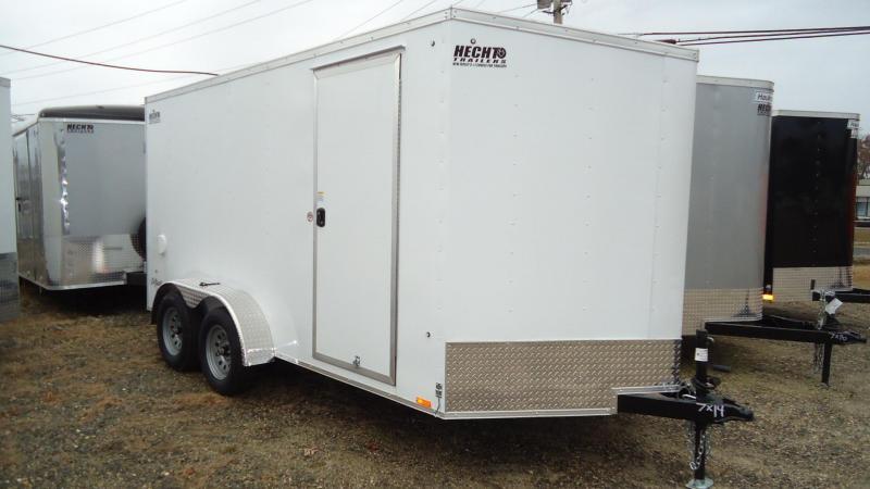 """2020 Pace American 7X14 OBDLX TE2 30VS 6""""X SVNT WHITE Enclosed Cargo Trailer"""